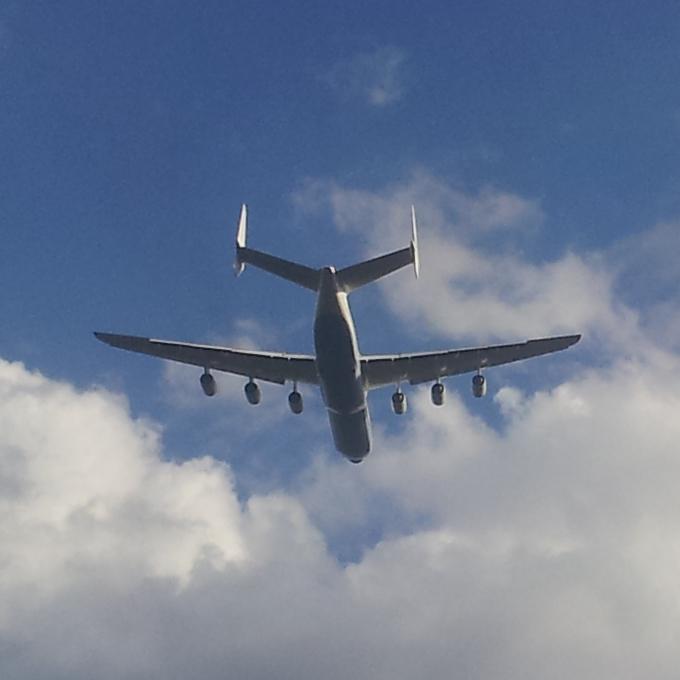 Antonov An-225 taking off from Riga International Airport RIX