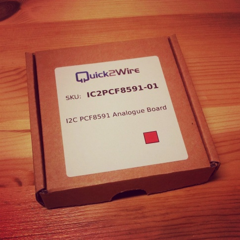 Quick2Wire Analog Board shipped in a small, nice box.