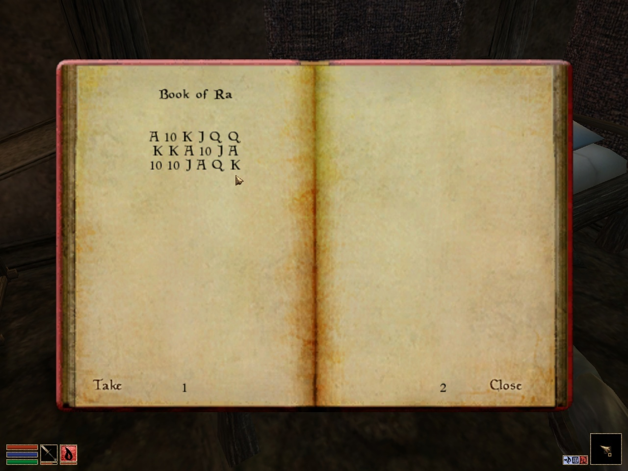 Book of Ra in Morrowind